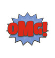 comic boom omg icon flat style vector image