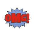 comic boom omg icon flat style vector image vector image