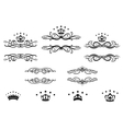 Decorative frames with crowns vector image