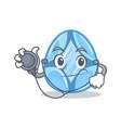doctor diamond character cartoon style vector image