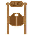 doors in western saloon 01 vector image