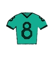 drawing green jersey american football tshirt vector image vector image