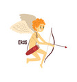 eros olympian greek god ancient greece mythology vector image vector image