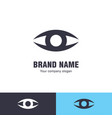 eye logo design template vector image