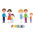 Funny families set - nice and simple design vector image vector image