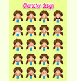 girl set vector image