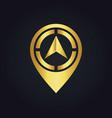 gold arrow position navigation logo vector image vector image