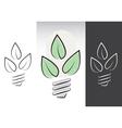 green energy light bulbs symbols vector image vector image