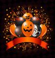 halloween balloons design vector image