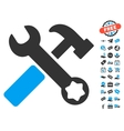 Hammer And Wrench Icon With Free Bonus vector image vector image