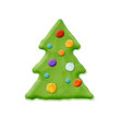 hand made christmas tree vector image