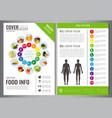 healthy lifestyle brochure design template vector image