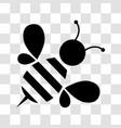 honey bee icon vector image vector image