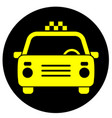 icon with the image of a taxi car vector image vector image