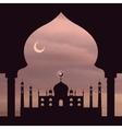 islam rose sky vector image vector image