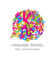 language school free communication vector image vector image