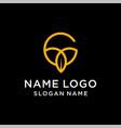 letter c leaf logo vector image vector image