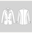 Long sleeve mans buttoned jacket vector image vector image