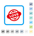 love stamp seal framed icon vector image vector image