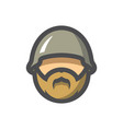 motor biker man in helmet cartoon vector image