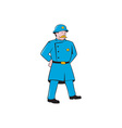 New York Policeman Vintage Standing Cartoon vector image vector image