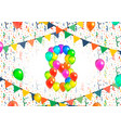 number eight made up from colorful balloons vector image