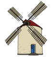old strone windmill vector image vector image
