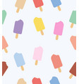 pastel color ice cream seamless pattern vector image vector image