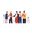people congratulate and thanking best colleague vector image vector image