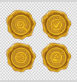 quality and money back guarantee isolated golden vector image