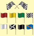 racing flags vector image vector image