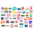 sale labels and stickers collection vector image