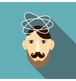 Science icon flat style vector image