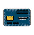 scribble credit card cartoon vector image