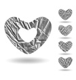 Set of hearts isolated on white vector image