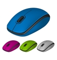 Set of photorealistic computer mouse vector image