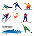 set of winter sport activities vector image