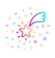 shooting star surrounded festive decor vector image vector image