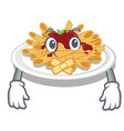 silent pasta isolated with in cartoon vector image vector image