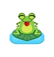 Silly Cartoon Frog Character vector image vector image