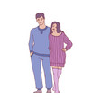 sketch adult couple hugs at home vector image vector image