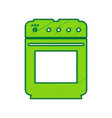 stove sign lemon scribble icon on white vector image