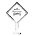 taxi stop traffic signal vector image