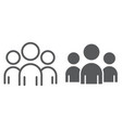 team line and glyph icon business vector image vector image