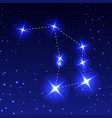 the constellation of the altar in the night starry vector image vector image