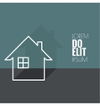The symbol of a dwelling house vector image vector image