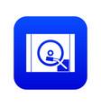 turntable icon digital blue vector image vector image