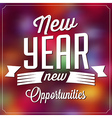 Typographic New Year Background vector image