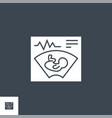 ultrasound related glyph icon vector image vector image