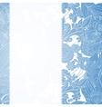 Vintage blue floral ornament background vector image vector image